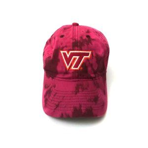 Upcycled Custom Bleached Tie Dye Red VT Dad Cap